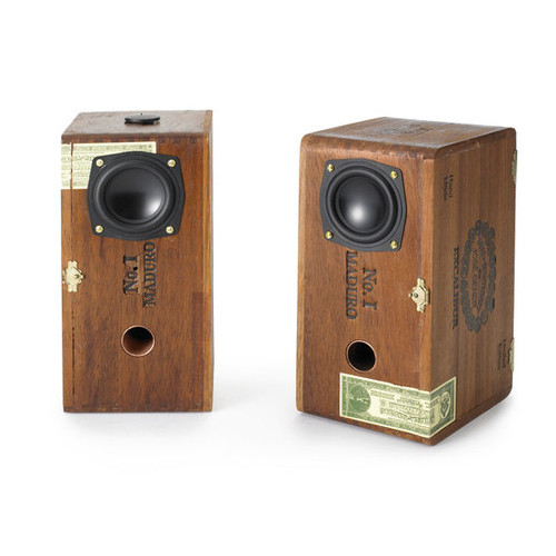 Sweet Cigar Box Speakers | Owen & Fred