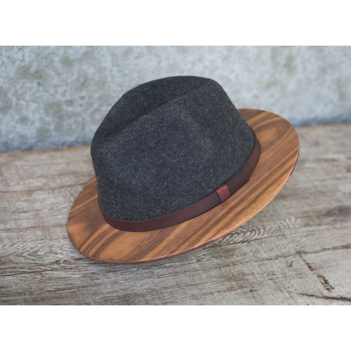 Wood Brim Fedoras - Two Guys Bow Ties
